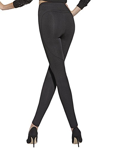 Bas Bleu – Leggings Sexy fesses push-up/cinturón adelgazante, talla L