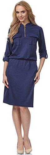 Merry Style Robe pour Femme MSSE0004 Navybleu