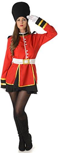 Königlicher Schutz Damen National British Uniform Erwachsene Kostüm Neu (Medium European 42 - 44 (UK 14 - 16))