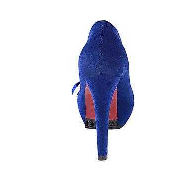 Da donna-Tacchi-Casual-Comoda-Quadrato-PU (Poliuretano)-Nero / Blu / Rosa Blue
