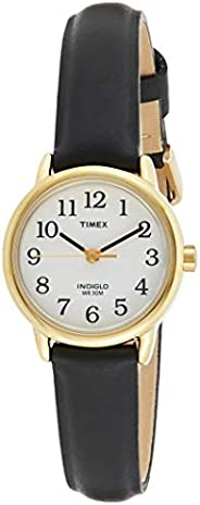Timex Womens Quartz Watch, Analog Display And Leather Strap - T20433