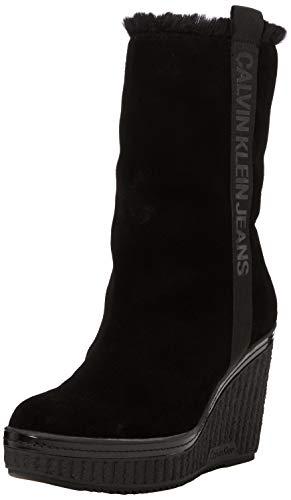 Calvin Klein Jeans Damen SHUANA Suede Stiefeletten, Schwarz (Black 000), 39 EU