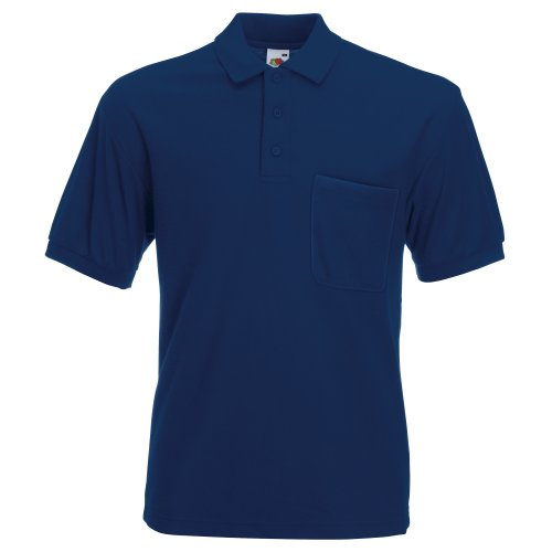 Fruit of the Loom Herren Raglan Sleeve Poloshirt, Marineblau, M -
