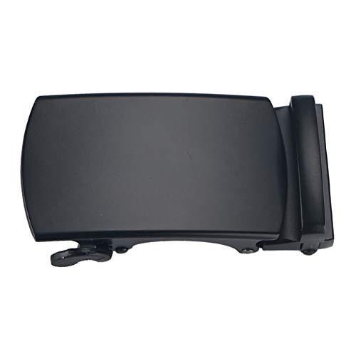 Hebilla de Cinturón de Trinquete Metal Negro Cierre Automático Casual para Hombres - 01, tal como se describe