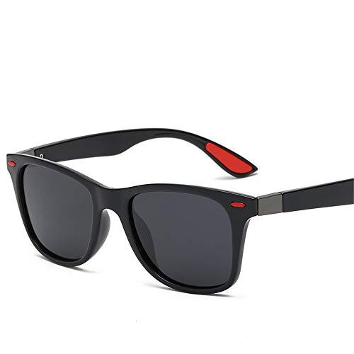 Preisvergleich Produktbild LEIAZ Herren Polarisierte Fahren Sonnenbrillen Sport im Freien Eyewear Unzerbrechlich Spring Scharnier Ultra-Light Schwarzer Rahmen HD Objektiv für Männer