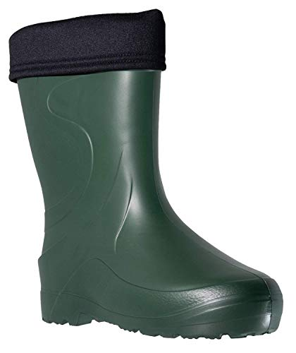 Fagum Stomil Womens Wellingtons - Warm Waterproof Boots with Fleece Lining - Slip Resistant Garden Shoes
