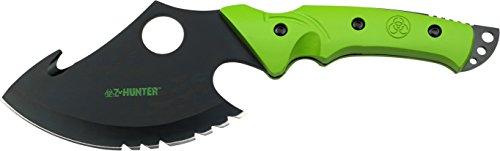 Z Hunter Outdoormesser, Gesamtlänge cm: 25,4, pakkaholz griff zombie grün gestrichenen, (Axt Hunter Zombie)