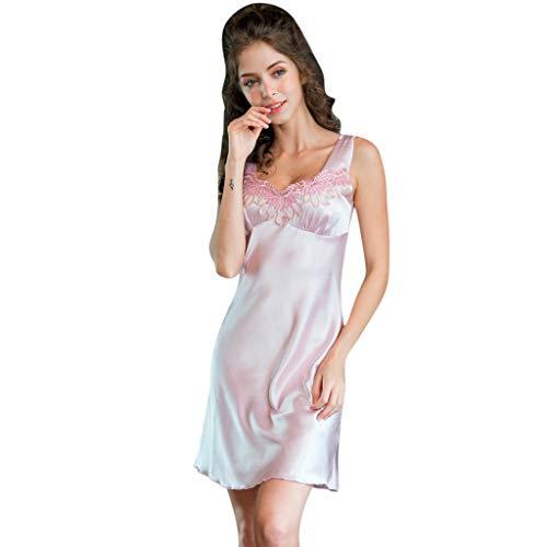 Frau Hase Kostüm - Dtuta BademäNtel FüR Damen MorgenmäNtel Einfache Klassische Seide Seide Pyjama Spitze Koreanische Version Der GroßEn Sexy Dessous Nachthemd Pyjama