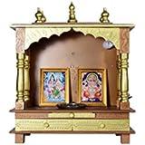 Jodhpur Handicrafts Wooden Pooja Mandir/Home Temple with LED Bulb
