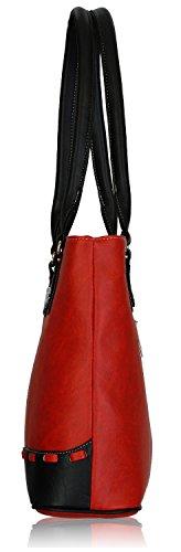 Fantosy Women s Handbag (Red and Black) (FNB-318)   aizahz d1248feda7