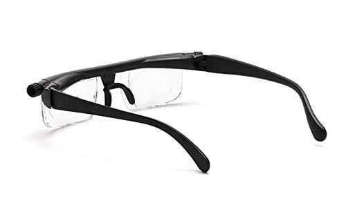ZUZU Einstellbare Stärke Linse Lesung Myopie Brille Brillen Variable Fokus Vision -6D bis + 3D Dioptrien Vergrößerung Variable Stärke 1080p Plasma Tv