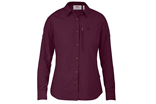 Fjällräven Damen Abisko Hike Shirt LS W Blusen & T-Shirts, Plum, L