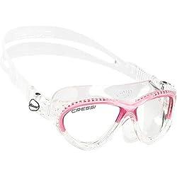 Cressi Swim Gafas de natación, niña, Transparente/Rosa, 7/15 Años-Cobra Kid