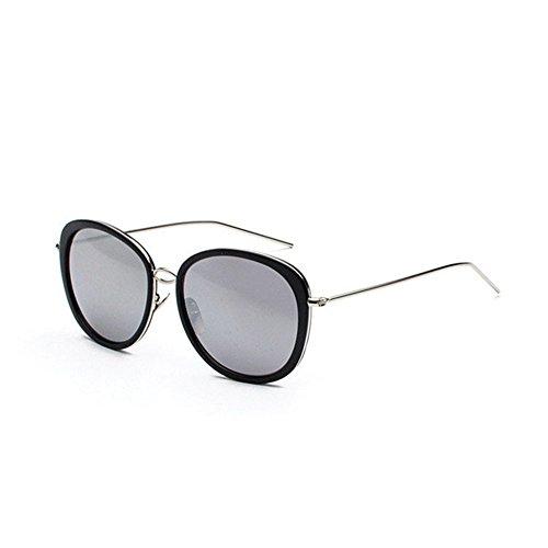 Luziang Ovalen großen Rahmen schmalen Gesicht Sonnenbrille Flut Person Runde Gesicht Sonne Brille helle Farbe reflektierende Mode Sonnenbrillen,Fahren, Reisen, Outdoor-Sport