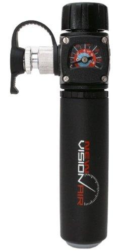 Barbieri New VISIONAIR CO²-Pumpe mit Manometer, schwarz, Einheitsgröße -