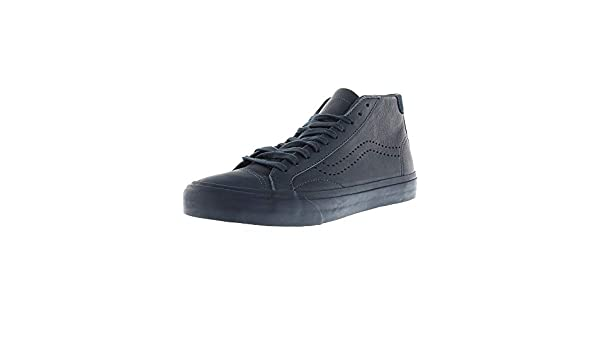 f1930a78773 Vans Court Mid Dx Leather Midnight Navy Ankle-High Canvas Skateboarding Shoe  - 6M 4.5M  Amazon.co.uk  Shoes   Bags