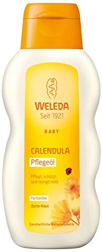 Baby Calendula Bad (WELEDA Baby Calendula Pflegeöl Parfümfrei, Naturkosmetik Babyöl für die Pflege, Reinigung und Massage von Babys, Schutz vor Hautreizungen, Wundwerden und trockener Haut im Windelbereich (1 x 200 ml))