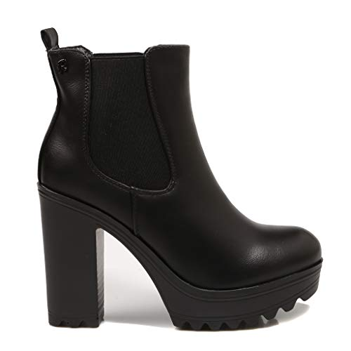 Refresh, Ref 69362,botín Negro con tacón para Mujer, 36