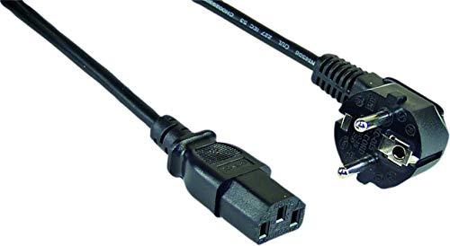 InLine Netzkabel, Schutzkontakt gewinkelt auf Kaltgerätestecker C13, 3m