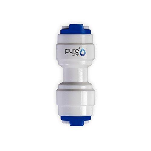 Wasser-umkehr-osmose-system (PureOne QF-06A Quick-Fitting - Schnellverbinder 1/4 auf 1/4 Zoll. Ausführung: Gerade | I-Form. Schlauch-Zubehör für Umkehr-Osmose, Wasser-Installationen oder Kühlschranksysteme)