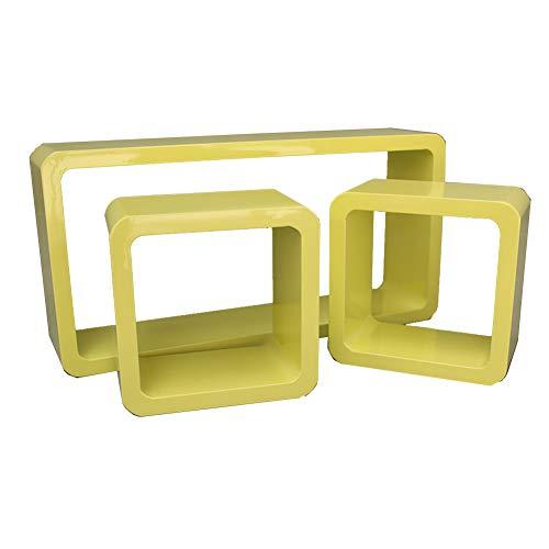 KF Schwebende Wandregale Regal Creative Lounge Cube Ausstellungsstand Feste Pylone Retro-Design...