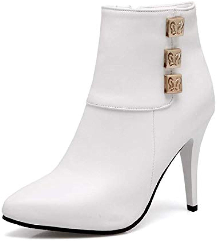0e3c7dffb Fanessy Femme Bottine Hiver Chaud Chaud Chaud Automne Noir Blanc ...
