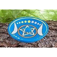 Berg Räucherstäbchenhalter Mondsichel und Pentagramm aus Ton, ca. 12,5 cm preisvergleich bei billige-tabletten.eu