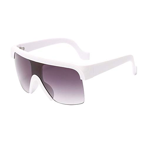 GXM-FR Polarisierte Sonnenbrille, Retro Large Flat Top UV400 Blendschutz, Anti-Fatigue-Brille, Outdoor-Reiten für Damen, Sport, Street Shooting-Brille,E