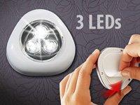 """Lunartec """"Stick & Push"""" Light mit 3 weißen LEDs (weiß) von Lunartec - Lampenhans.de"""