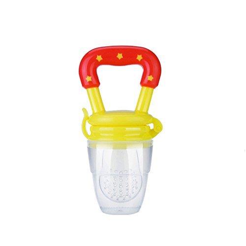 Fruchtsauger mit Schutzkappe, Homure® Sicherer und Spaß Baby Frucht Sauger Gemüsesauger für Solide Frische Lebensmittel, Grün - BPA Freier Schnuller für 3 Monate und älter Babys und Säuglinge (Grüne Frucht)