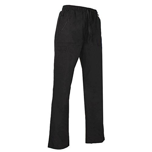 Misemiya - pantaloni di lavoro signora uniforme clinica ospedale pulizia veterinario igiene ospitalitÁ - ref.q708 - small, nero