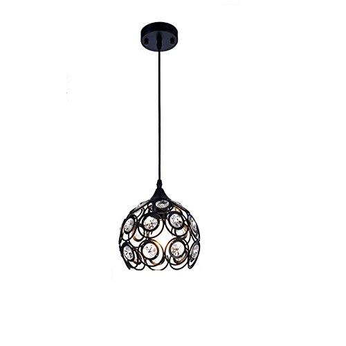 DPG Illuminazione Lampadari in cristallo con lampadari a sospensione a soffitto E27 220v 110v per soggiorno, camera da letto (lampadina non inclusa)