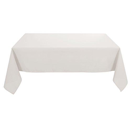 Deconovo Tischdecke Wasserabweisend Tischwäsche 130x220 cm Elfenbein