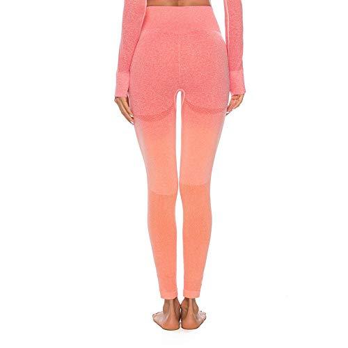 ✬Tefamore Pantalon de survêtement pour Femmes Fitness Fitness Gym Gym Pantalons de survêtement pour Femmes(Orange,Medium)