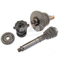 SET Sportgetriebe 5-Gang - kurze Übersetzung kpl. mit Schaltwalze (Losrad - 44, 40, 36, 34, 32 Z / Festrad - 10, 16, 19, 22, 23 Z) Umrüstkit für alle Simson 4-Gang-Motoren -