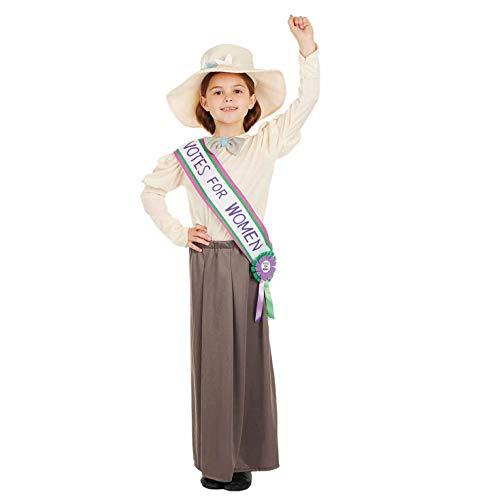 Kostüm Suffragetten - Fun Shack FNK4273L Kostüm, Girls, Suffragette, Large