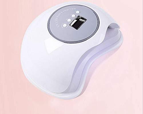 BLHZPD Lámpara uñas UV 72W secadores uñas, secador