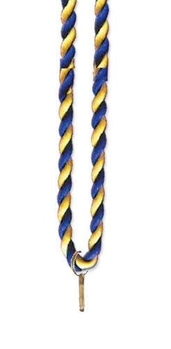 Medaillen Kordel / Siegerkordel blau/gelb