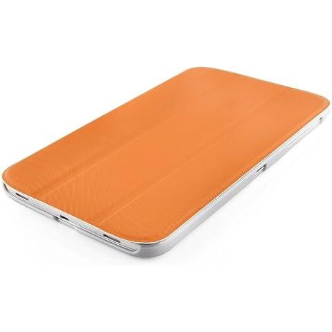 VEO | Funda Para [ Samsung Galaxy TAB 3 8.0 ] Ultra Fina Smart Case Cover Inteligente, NARANJA
