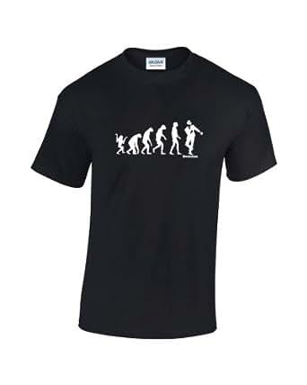 Evolution Of Man - Ska T-Shirt (Black Small)