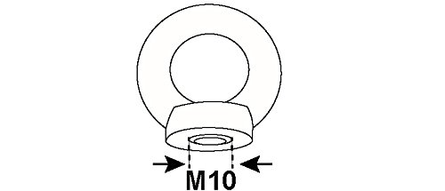 Connex Ringmuttern M10 DIN 582, 1000 g, verzinkt, KL4220047