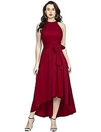 Women's gown up down western dress knee long