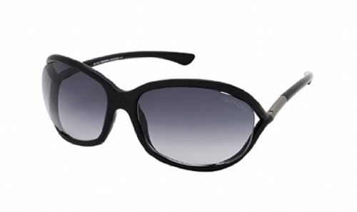 Tom Ford Für Mann 0008 Jennifer Polished Black / Grey Gradient Kunststoffgestell Sonnenbrillen