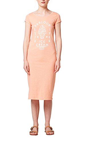 edc by ESPRIT Damen Kleid 068CC1E002, Orange (Salmon 860), X-Small
