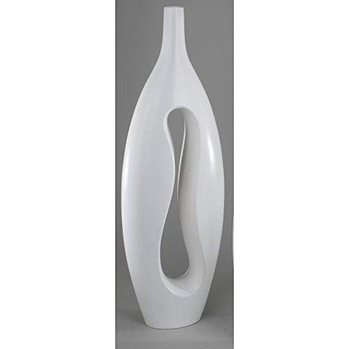 formano Bodenvase, Dekovase SAMUNGA weiß matt glasiert H. 65 cm Keramik oval