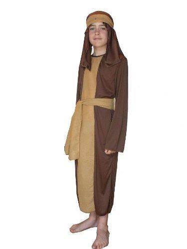 Costume da pastore per bambini, marrone, taglia media, 7–9anni, tema Natività