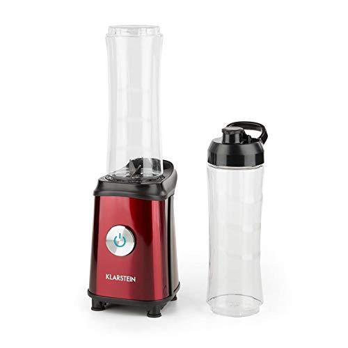 Klarstein Tuttifrutti - Mini Mixer Batidora, 2 recipientes BPA free de 600 ml con tapa, Interruptor...
