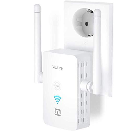 Victure Repetidor WiFi, Amplificador WiFi Extensor, 2.4 GHz / 300Mbps, con Puerto...