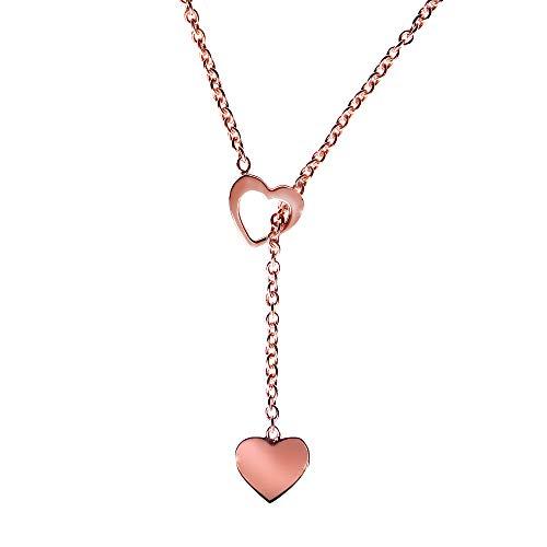 Principio® Halskette für Damen Herz Anhänger Silber 925 - Made in Italy - Schmuck Mädchen Original verstellbar mit schöner Geschenkbox