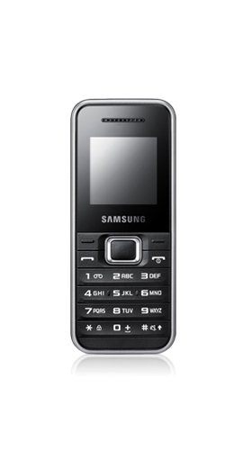 Samsung E1180 Handy (3,8 cm (1,5 Zoll) TFT-Farbdisplay) silber